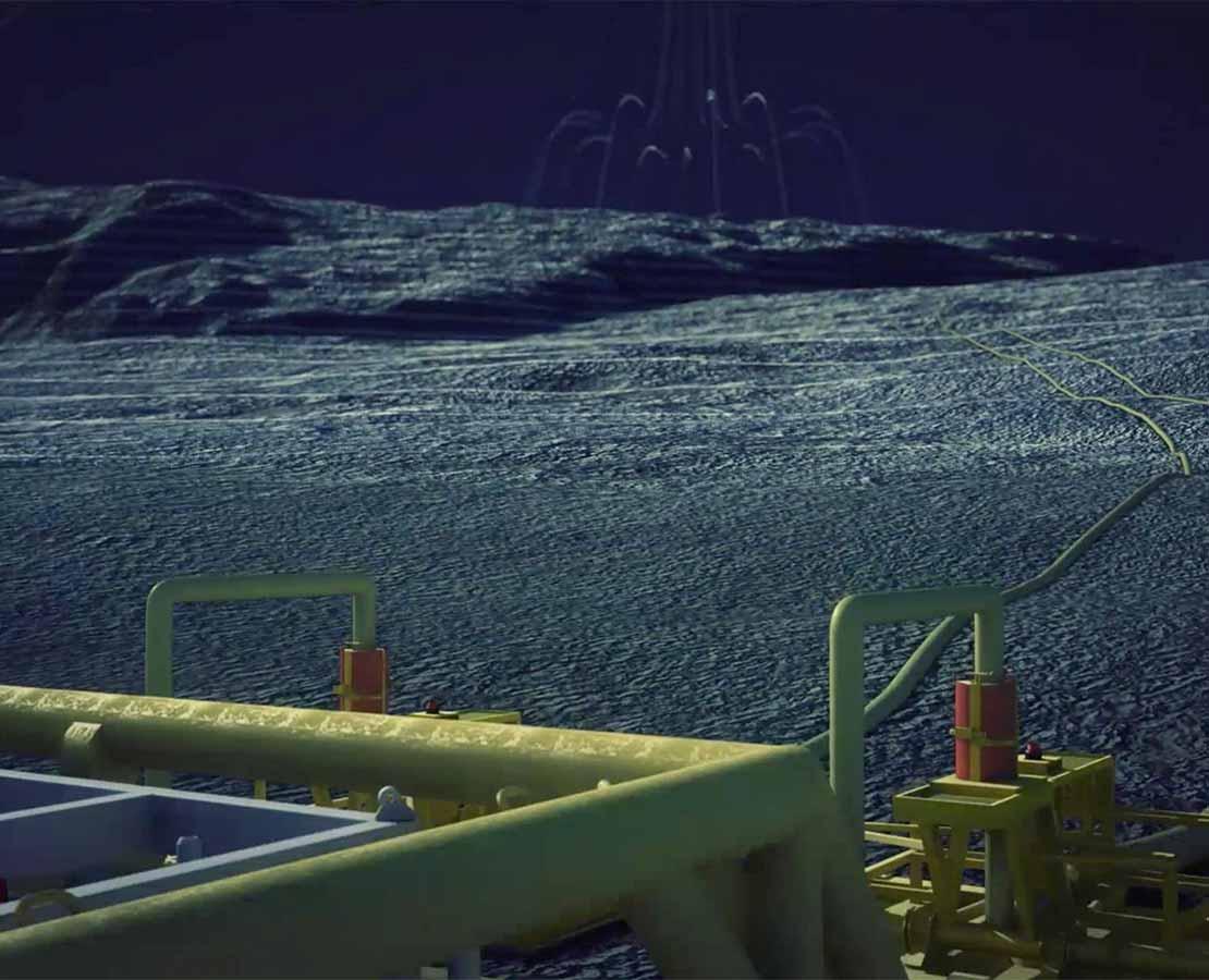 Flow assurance animation under water