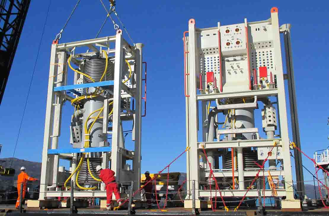 Two Multiphase WGC compressors onshore prepared to ship.