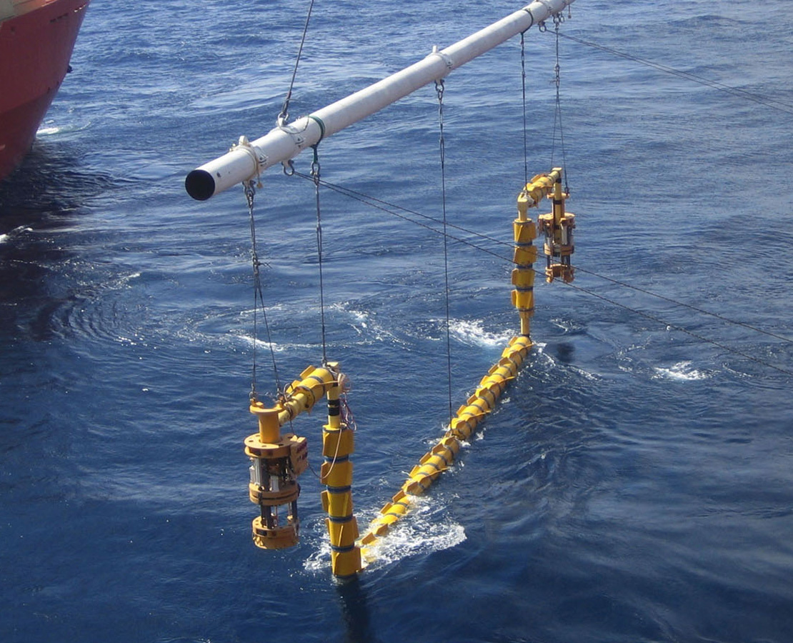 Image of a subsea flowline connection