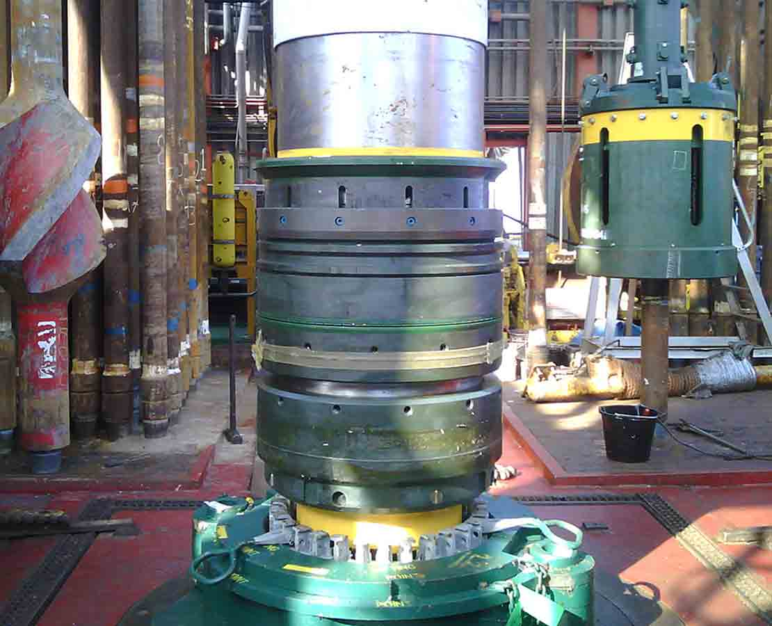 WellAnchor subsea wellhead on rig floor